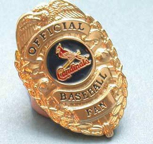 CARDINALS OFFICIAL BASEBALL FAN BADGE LAPEL PIN