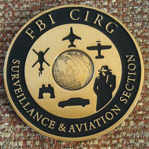 FBI CIRG SURVEILLANCE & AVIATION SECTION Coin