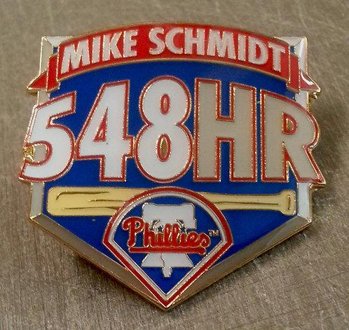 Mike Schmidt 548 CAREER HOME RUNS Lapel Pin