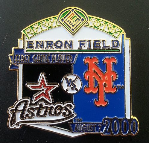 METS First Game Played ENRON FIELD Lapel Pin