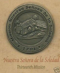NUESTRA SENORA de la SOLEDAD #13 Mission Lapel Pin