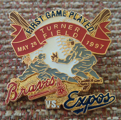 EXPOS First Game Played at TURNER FIELD Lapel Pin