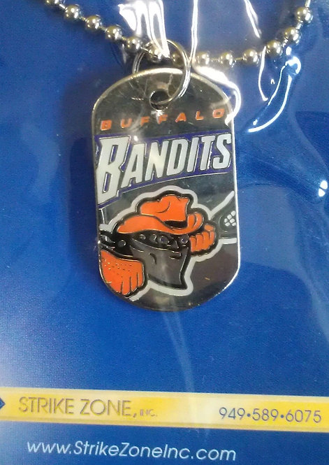 "Buffalo BANDITS 1-1/4"" Dog Tag with Chain"