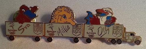 2000 Australia Sydney Olympic TRUCK & Mascots Pin