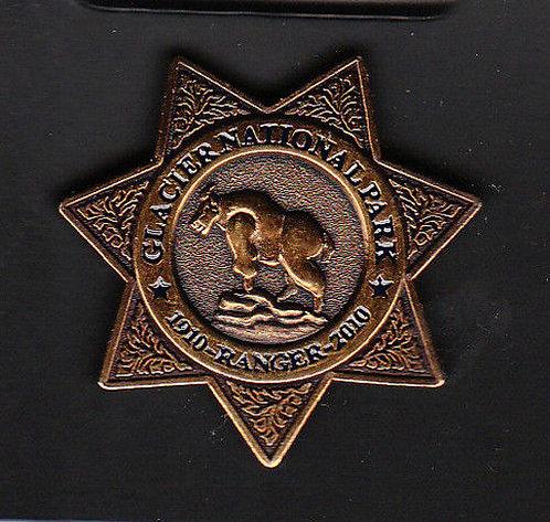 GLACIER NATIONAL PARK 1910-2010 RANGER BADGE Pin