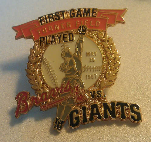 GIANTS First Game Played at TURNER FIELD Lapel Pin