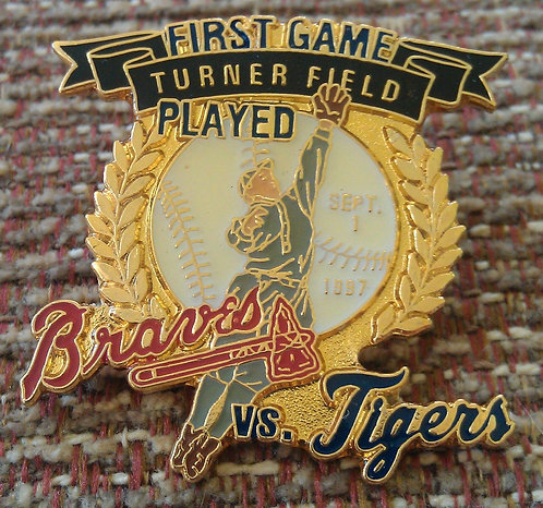 TIGERS First Game Played at TURNER FIELD Lapel Pin