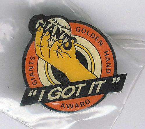 "San Francisco Giants ""Golden Hand Award"" Lapel Pin"