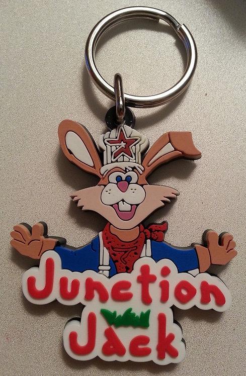 "JUNCTION JACK MASCOT ""3-D RUBBER"" KEY RING"