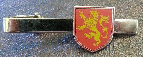 LION RAMPANT HERALDIC RED TIE BAR