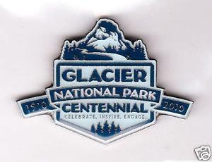 GLACIER NATIONAL PARK CENTENNIAL 1910-2010 MAGNET