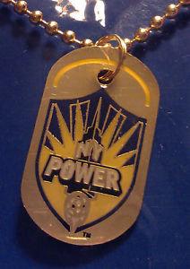 "NEW YORK POWER - 1-1/4"" Dog Tag w/Necklace"