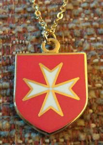 MALTESE CROSS Malta (RED) Pendant