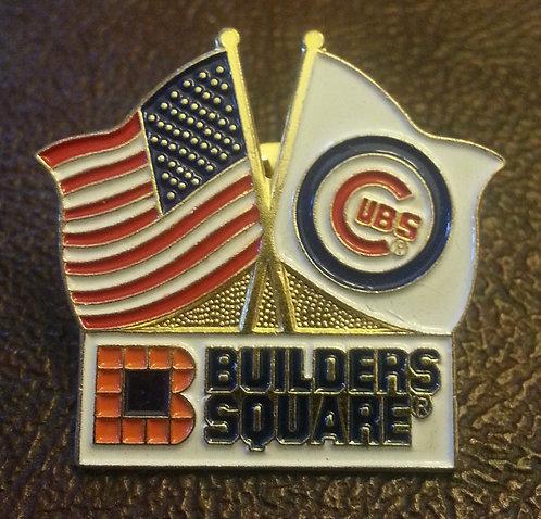 CHICAGO CUBS BUILDERS SQUARE SPONSOR LAPEL PIN