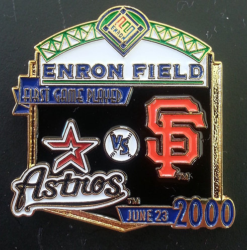 GIANTS First Game Played ENRON FIELD Lapel Pin