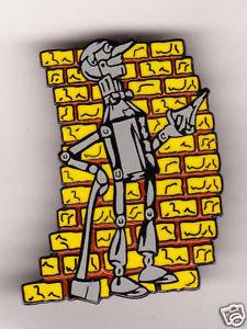 TIN MAN Wizard of OZ Yellow Brick Road Lapel Pin