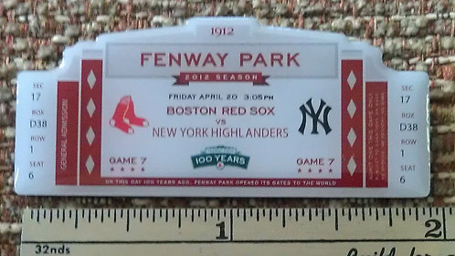RED SOX 100th 2012 OPENING DAY Lapel Pin