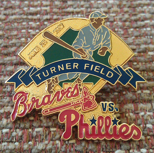 PHILLIES First Game Played at TURNER FIELD PIN