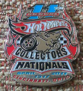 Hot Wheels 2011 11th Collectors National Lapel Pin