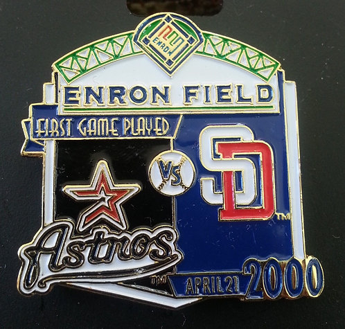 PADRES First Game Played ENRON FIELD Lapel Pin