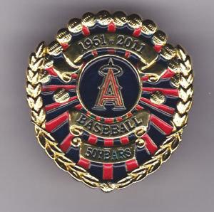 Los Angeles Angels Baseball 50 Yrs 1961-2011 Pin