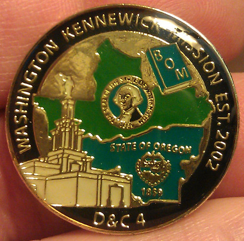 WASHINGTON KENNEWICK Est. 2002 MISSION Lapel Pin