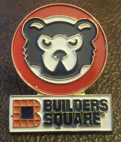 CUBS BEAR HEAD LOGO BUILDERS SQUARE SPONSOR PIN