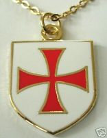 Templar Knights Order Shield Cross Necklace