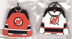 New Jersey DEVILS Rubber 2-Sided RUBBER Key Ring