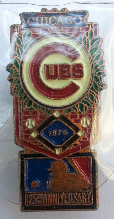 CHICAGO CUBS 125th Anniversary of MLB LAPEL PIN