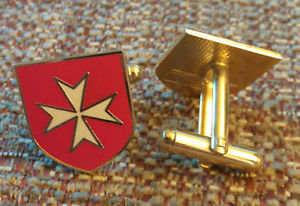 MALTESE CROSS Malta (RED) CUFF LINKS