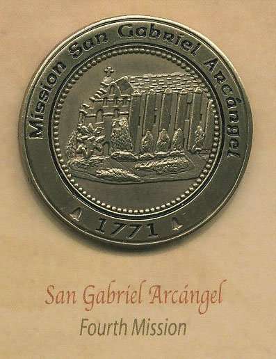 SAN GABRIEL ARCANGEL #4 of 21 Mission Lapel Pin