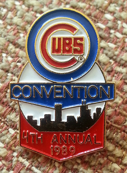 CHICAGO CUBS 4th Annual Convention 1989 LAPEL PIN