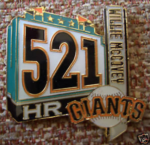 Willie McCovey 521 Home Runs Lapel Pin