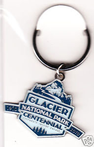 Glacier Park Centennial Key Ring