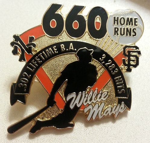Willie MAYS 660 Home Runs Lapel Pin - S.F. GIANTS