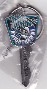 "Rochester Knighthawks ""Key to the FIELD"" Key Ring"