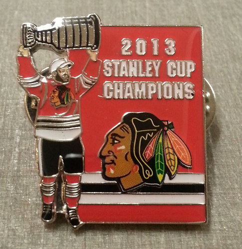 2013 STANLEY CUP CHAMPIONS CHICAGO BLACKHAWKS Pin