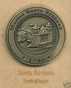 SANTA BARBARA Mission Lapel Pin #10 of 21