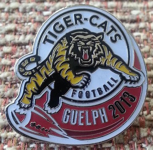 CFL 2013 GUELPH TIGER-CATS FOOTBALL LAPEL PIN