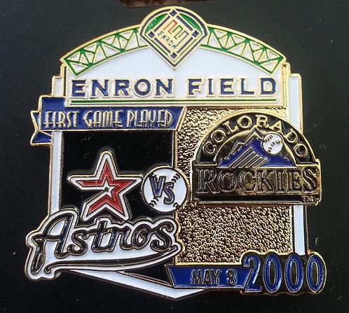 HOUSTON ASTROS vs COLORADO ROCKIES ENRON Lapel Pin