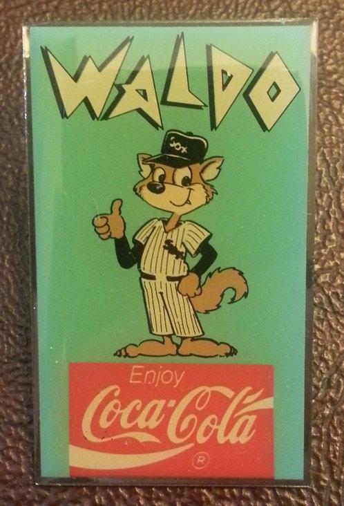 WALDO WHITE SOX MASCOT COCA-COLA SPONSOR LAPEL PIN
