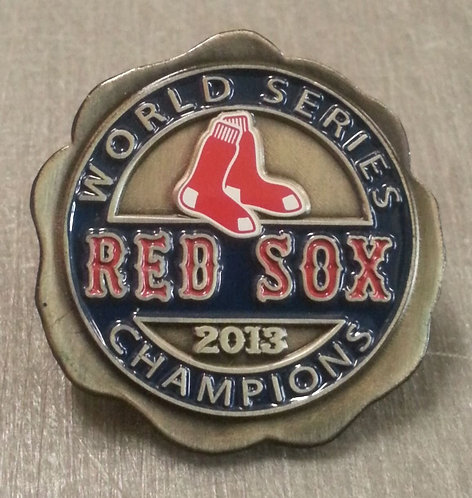 RED SOX 2013 WORLD SERIES Champions Lapel Pin