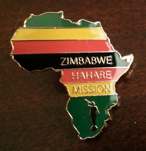 AFRICA ZAMBABWE HARARE MISSION Lapel Pin