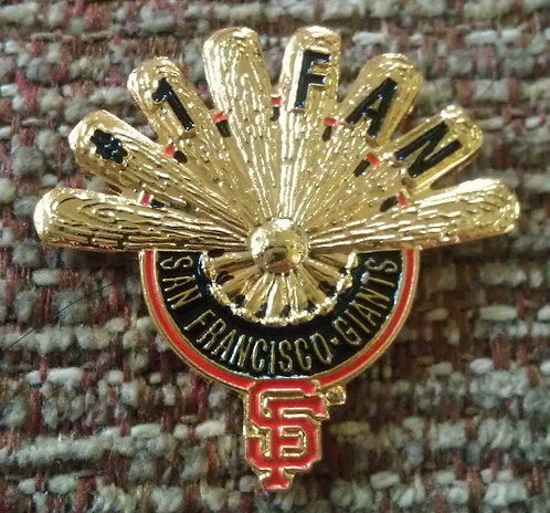 GIANTS #1 FAN / BATS FORM A FAN Lapel Pin