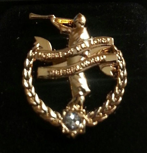 ANGEL MORONI Lapel Pin w/Imitation Diamond Stone