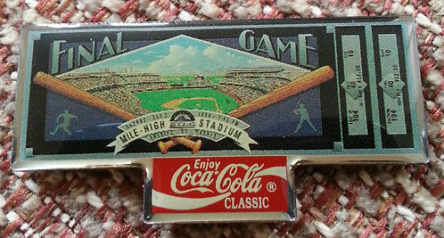 ROCKIES 1994 Final Game Mile High Stadium Pin