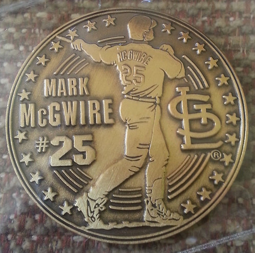 MARK McGWIRE #25 Coin 4 of 4 - Sept. 3, 2000