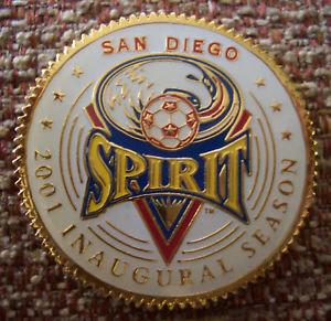 WUSA 2001 INAUGURAL SEASON S.D. SPIRIT COIN