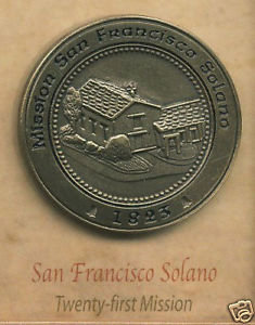SAN FRANCISCO SOLANO Mission Lapel Pin #21 of 21